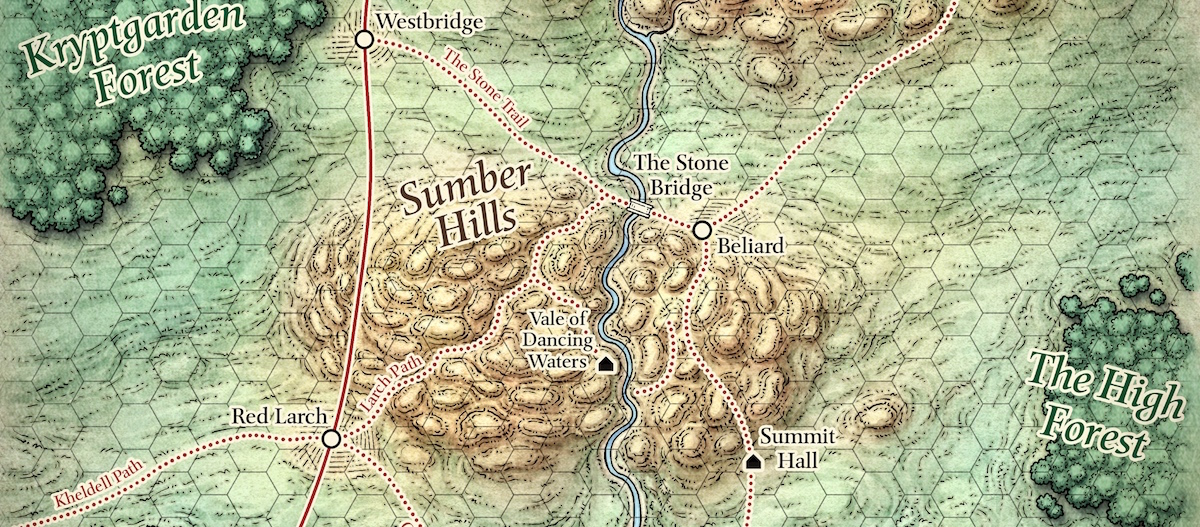 Map of the Dessarin Valley.