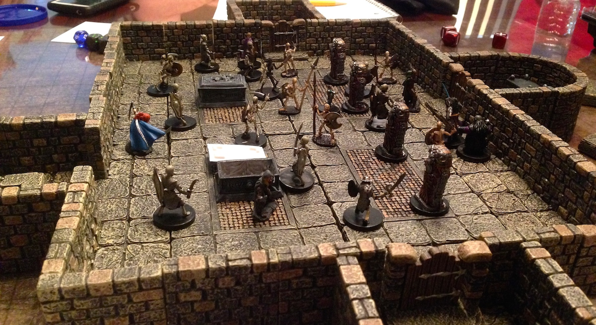 A Dwarven Forge room built on the fly
