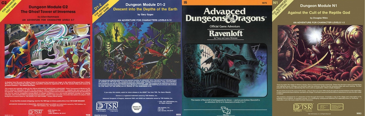 Classic D&D Adventure Covers
