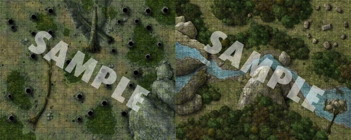 Pathfinder Flip Mat Forest Cave 1 The Forest Map The Best