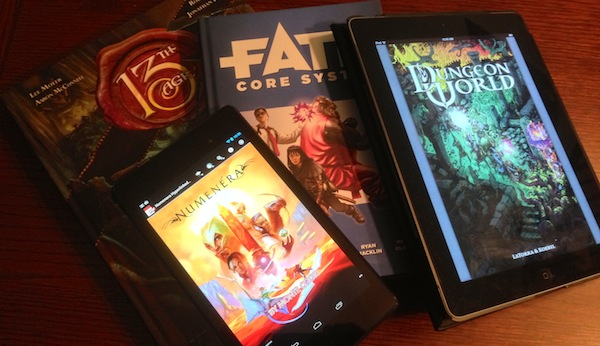 13th Age, Fate Core, Numenera, and Dungeon World