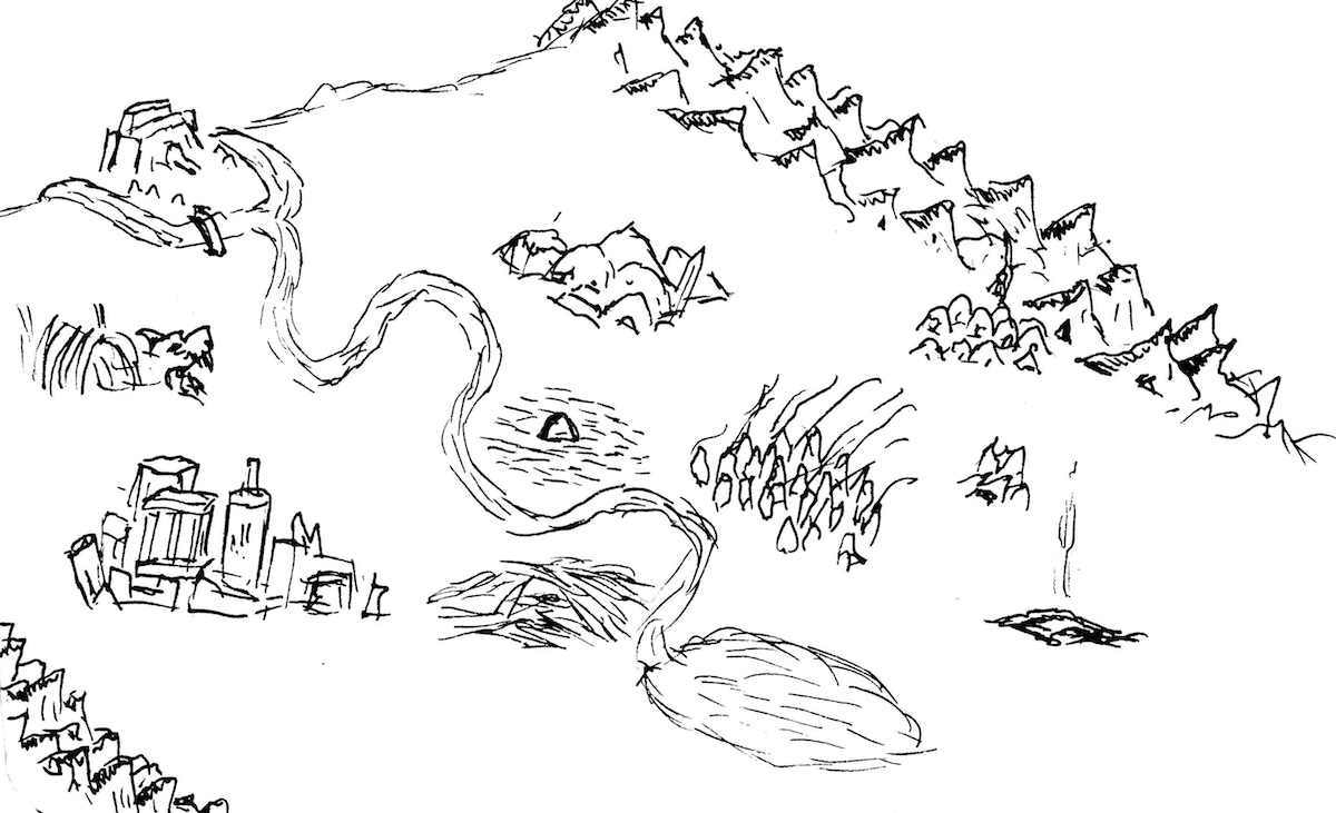 Moonwreck scratchy map