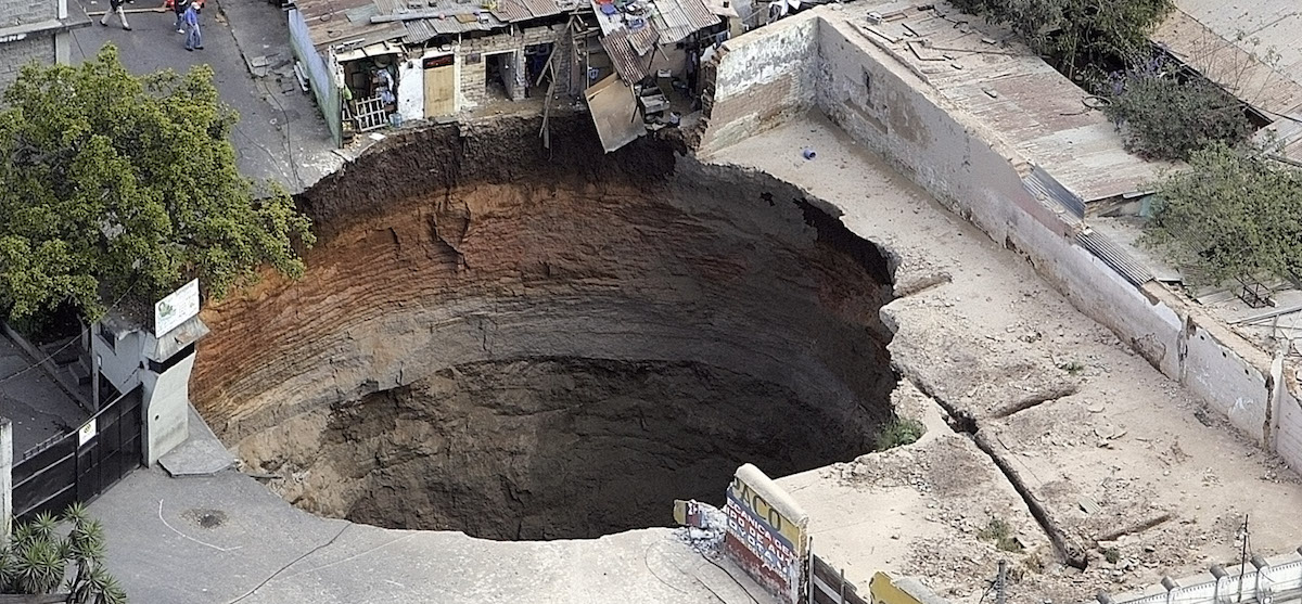 A real sinkhole.
